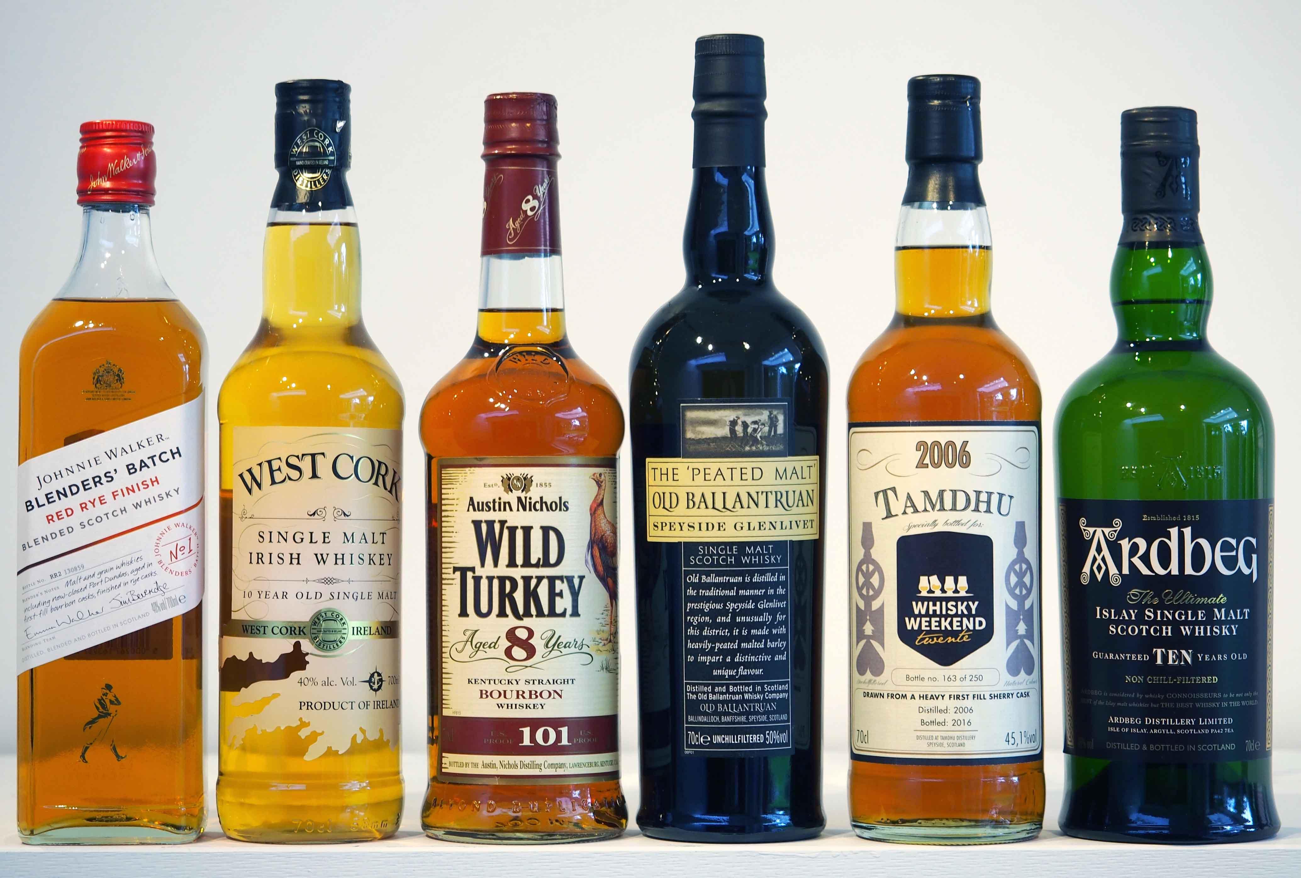 Henri Goossen whiskyproeverij feestavond themafeest whiskyverkostung whiskytasting line-up