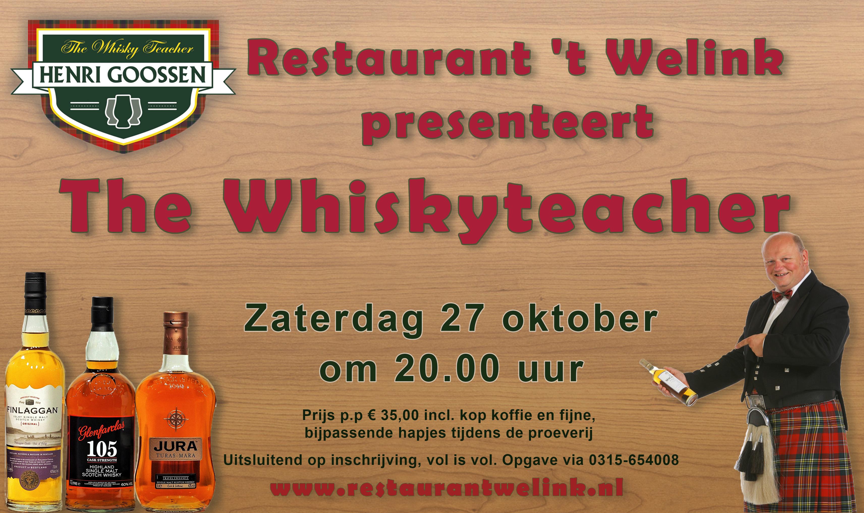 whiskyproeverij in Dinxperlo bij 't Welink